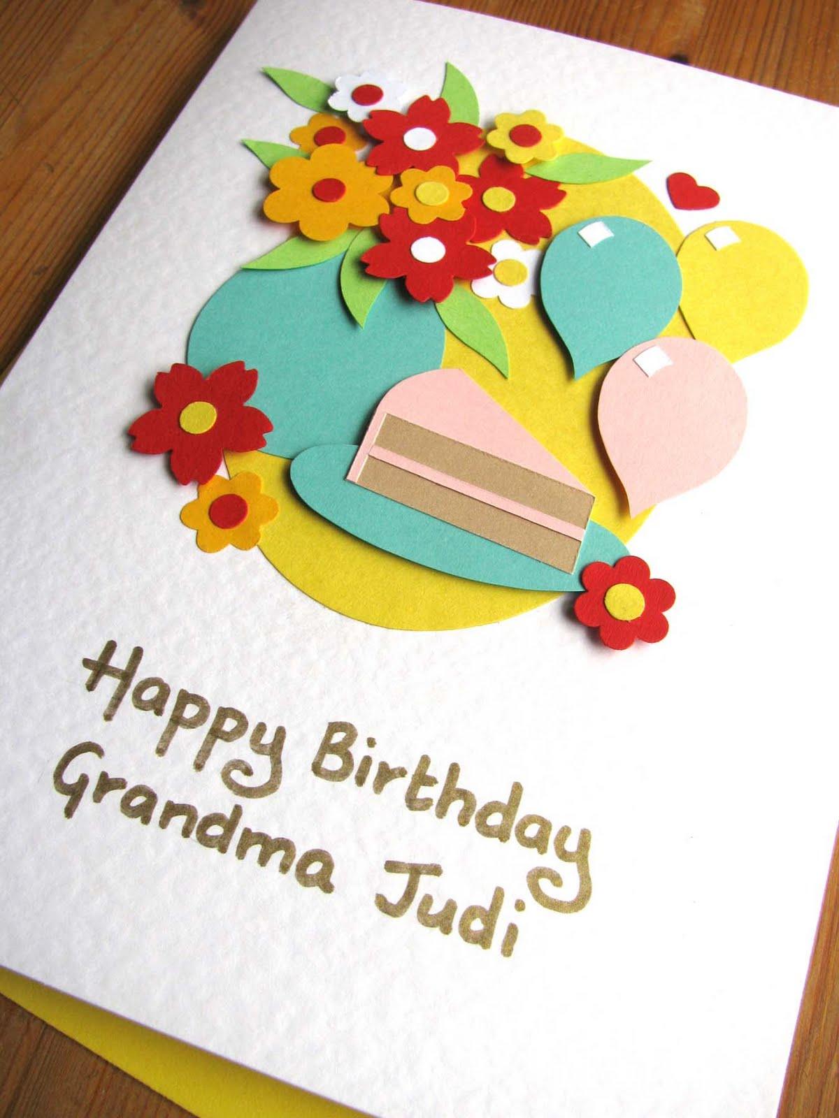 Открытки своими руками на др бабушке от внучки
