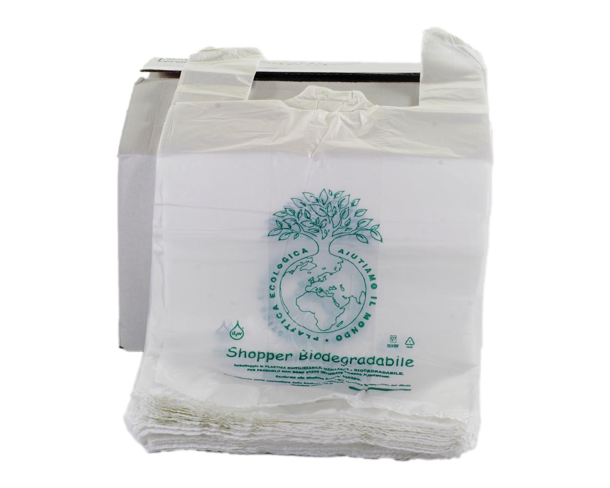 sacchetti e shopper biodegradabili compostabili