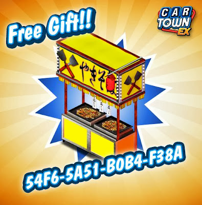 Car Town EX Free Gift Stand de comidas