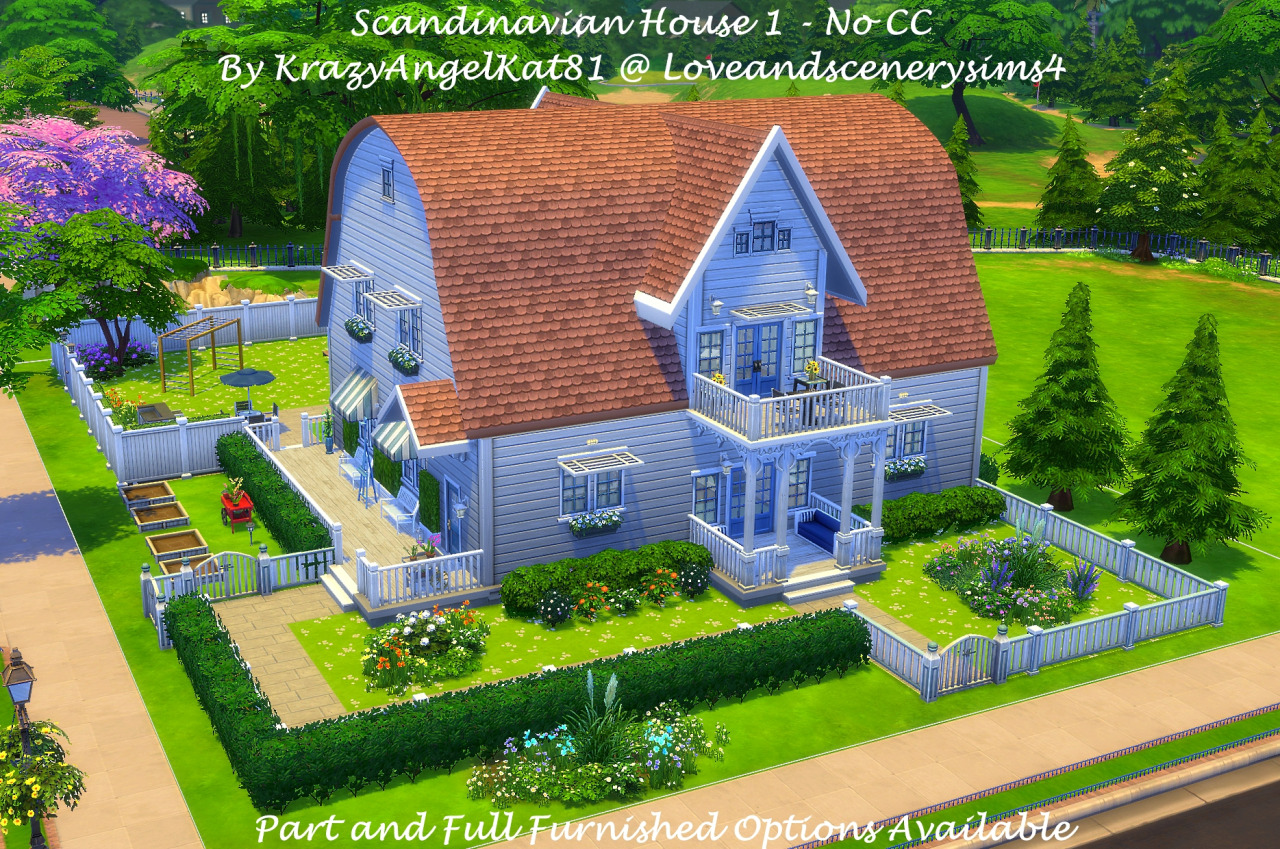 My Sims 4 Blog Scandinavian House 1 2 Furnished