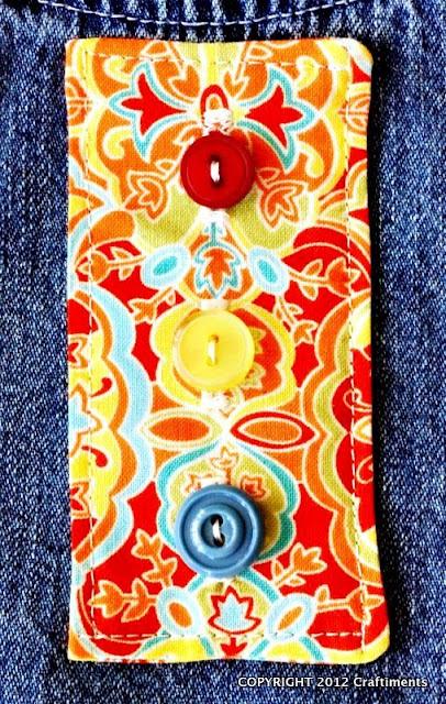 Craftiments:  Faux button placket