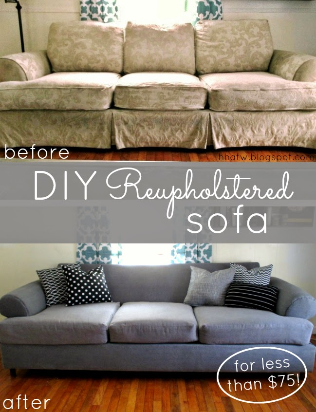 High Heels And Training Wheels DIY Couch Reupholster With