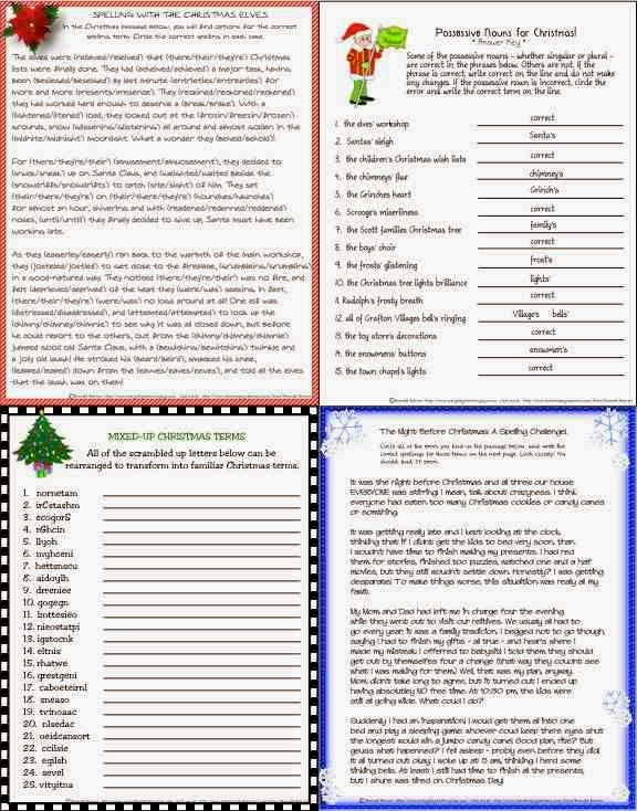 ... Flyer : Just in Time! A Middle School Christmas-Themed Literacy Packet