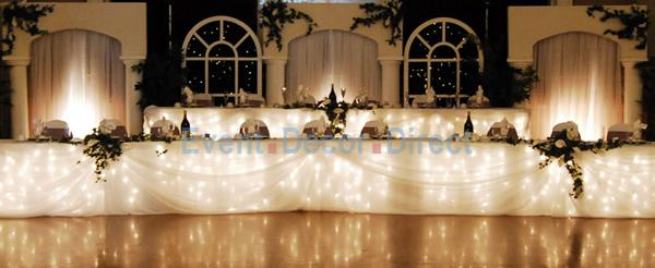 The Fairy Light Table Skirting - this is absolutely stunning!