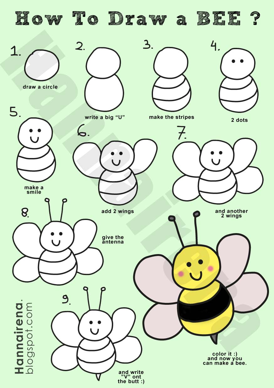 How to draw a bumble bee - photo#1
