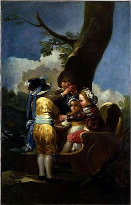 Niños del carretón de Francisco de Goya, óleo sobre lienzo, 145,4 × 94 cm