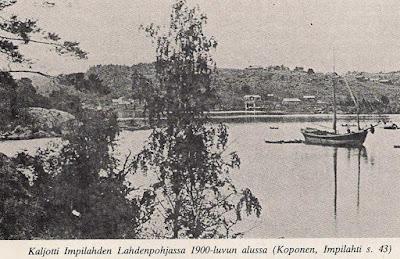 один из финских галиотов в заливе Импилахти.