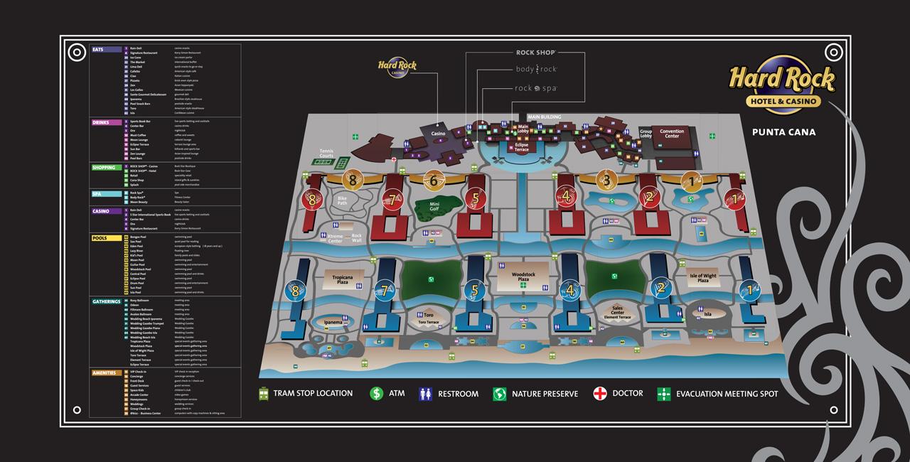 Hard Rock Punta Cana Room Map