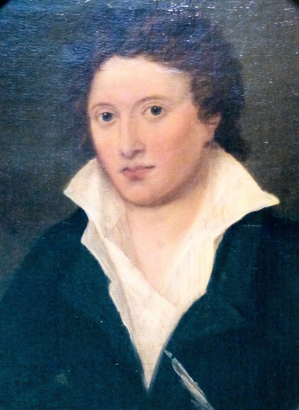 Percy Bysshe Shelley  by Amelia Curran (1819)  at the National Portrait Gallery, London