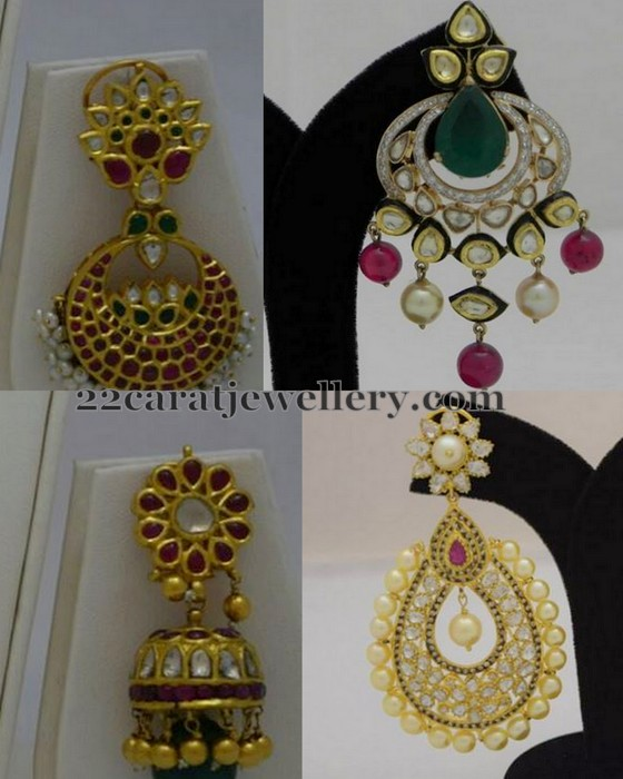 Antique Finish Chandbalis by Totaram