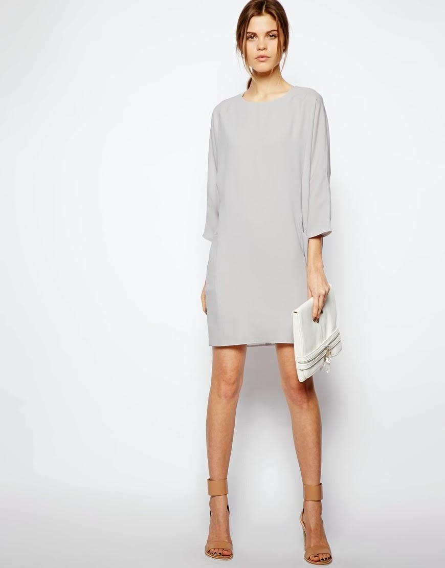 asos grey dress
