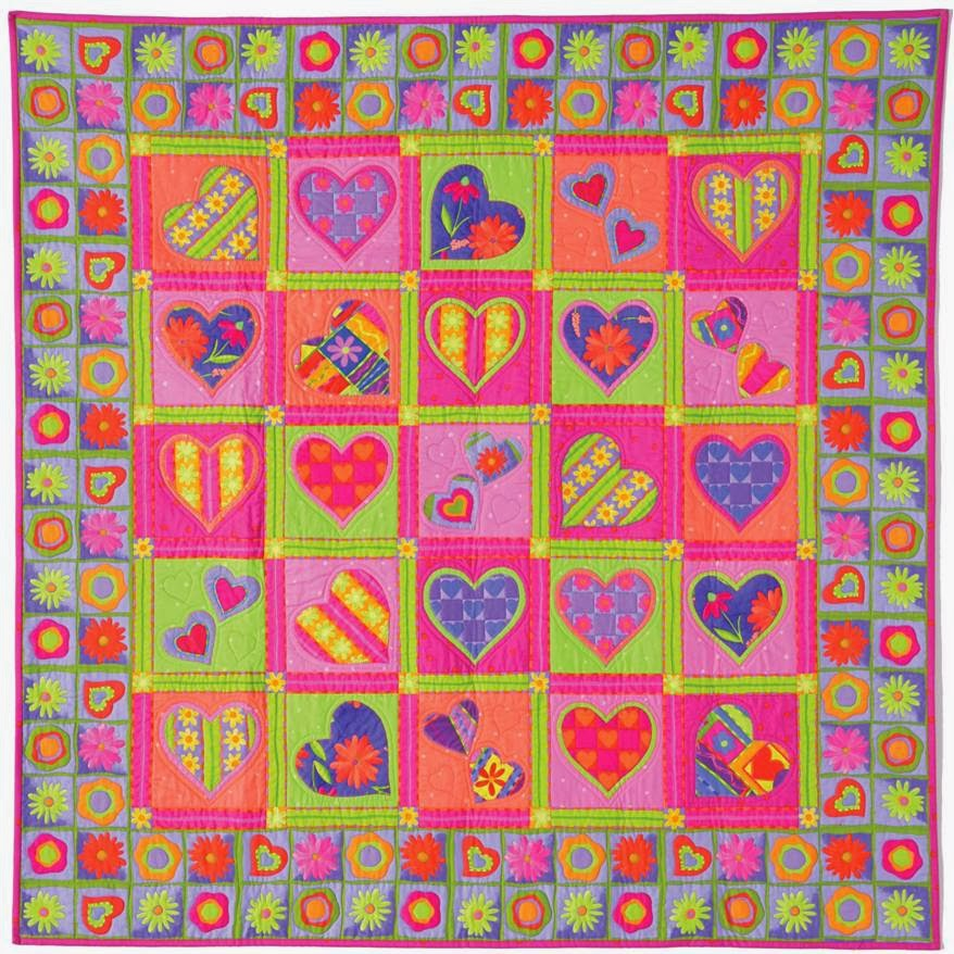 Free Quilt Patterns With Hearts : Quilt Inspiration: Free pattern day: Hearts and Valentines 2015