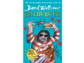David Walliams at the Ratburger book premiere-giveaway