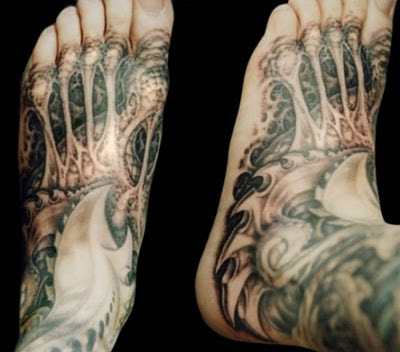 Ankle Tattoos for men on Foot