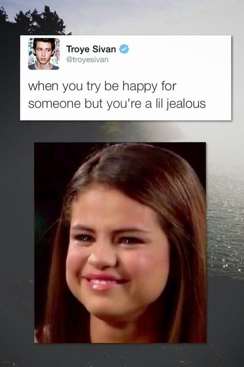 When You Try Be Happy for Someone But You're A Lil Jealous