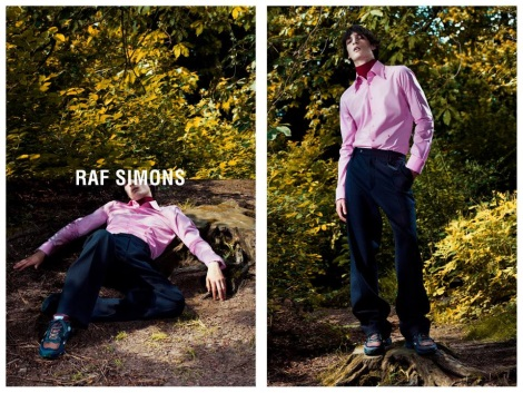 Pink Shirt in Raf Simons Fall 2013 Campaign by Willy Vanderperre