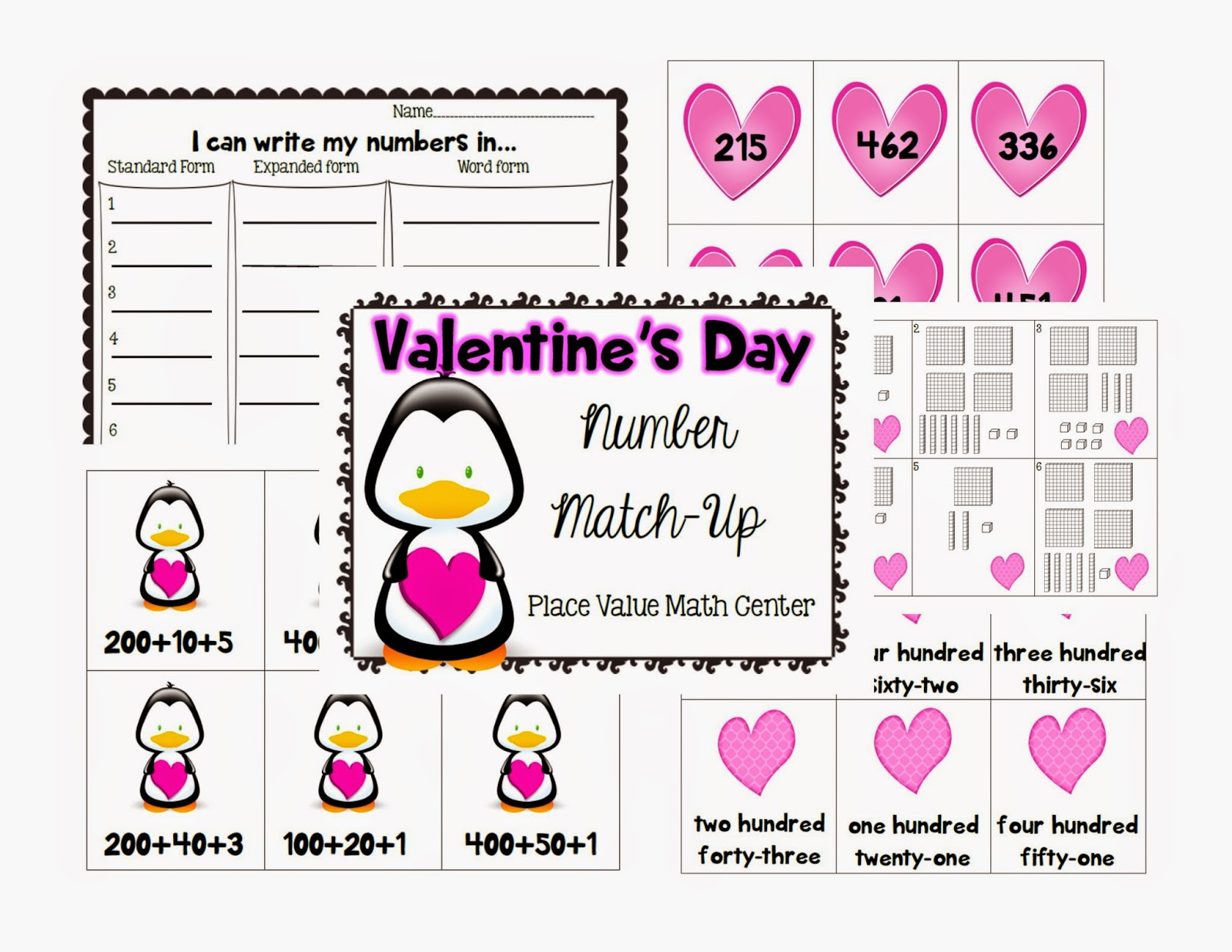 https://www.teacherspayteachers.com/Product/Valentines-Day-Number-Match-Up-3-digit-Place-Value-Math-Center-1671219