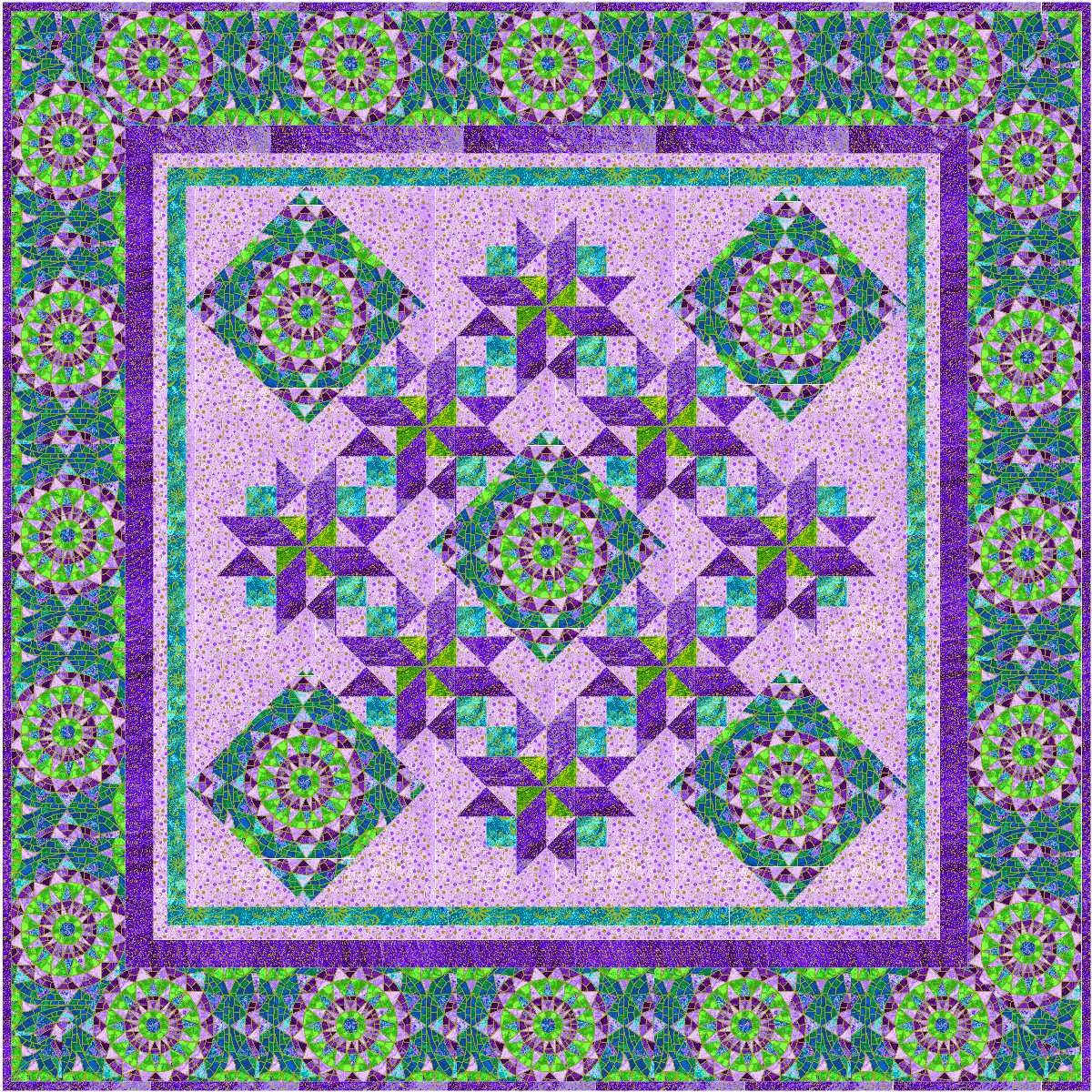 Quilt Pattern Using Focus Fabric : Fabric of My Life: