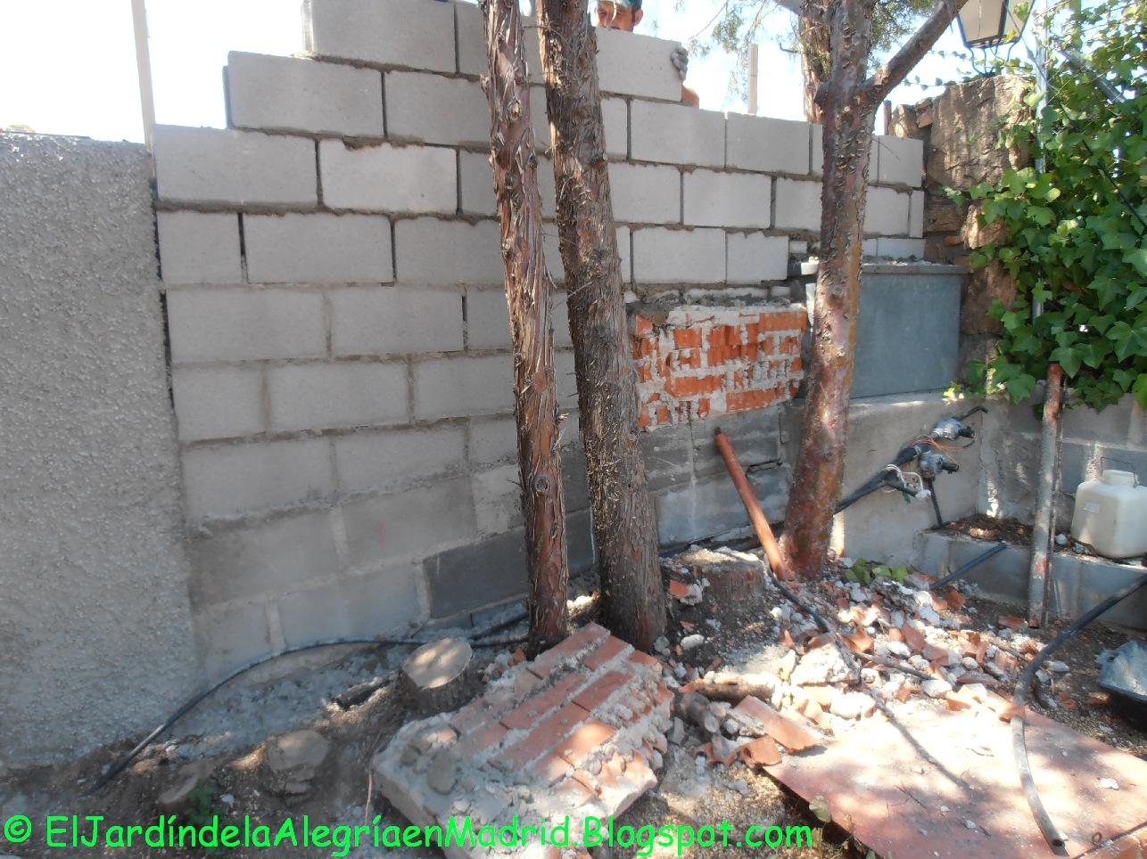 El jard n de la alegr a dise o y realizaci n de muros de - Muros de jardin ...