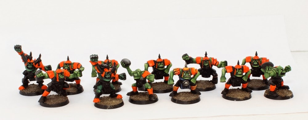 Wip Blood Bowl Orc Team Tale Of Painters