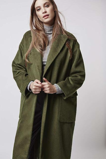 green hairy coat, green slouchy coat, green oversized coat, green long wool coat,