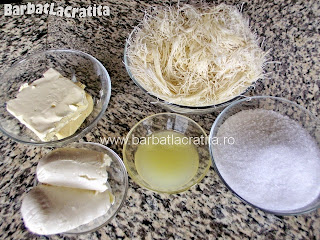 Cataif cu branza Kunefe ingrediente reteta