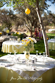 yellow rose and white daisy centerpiece