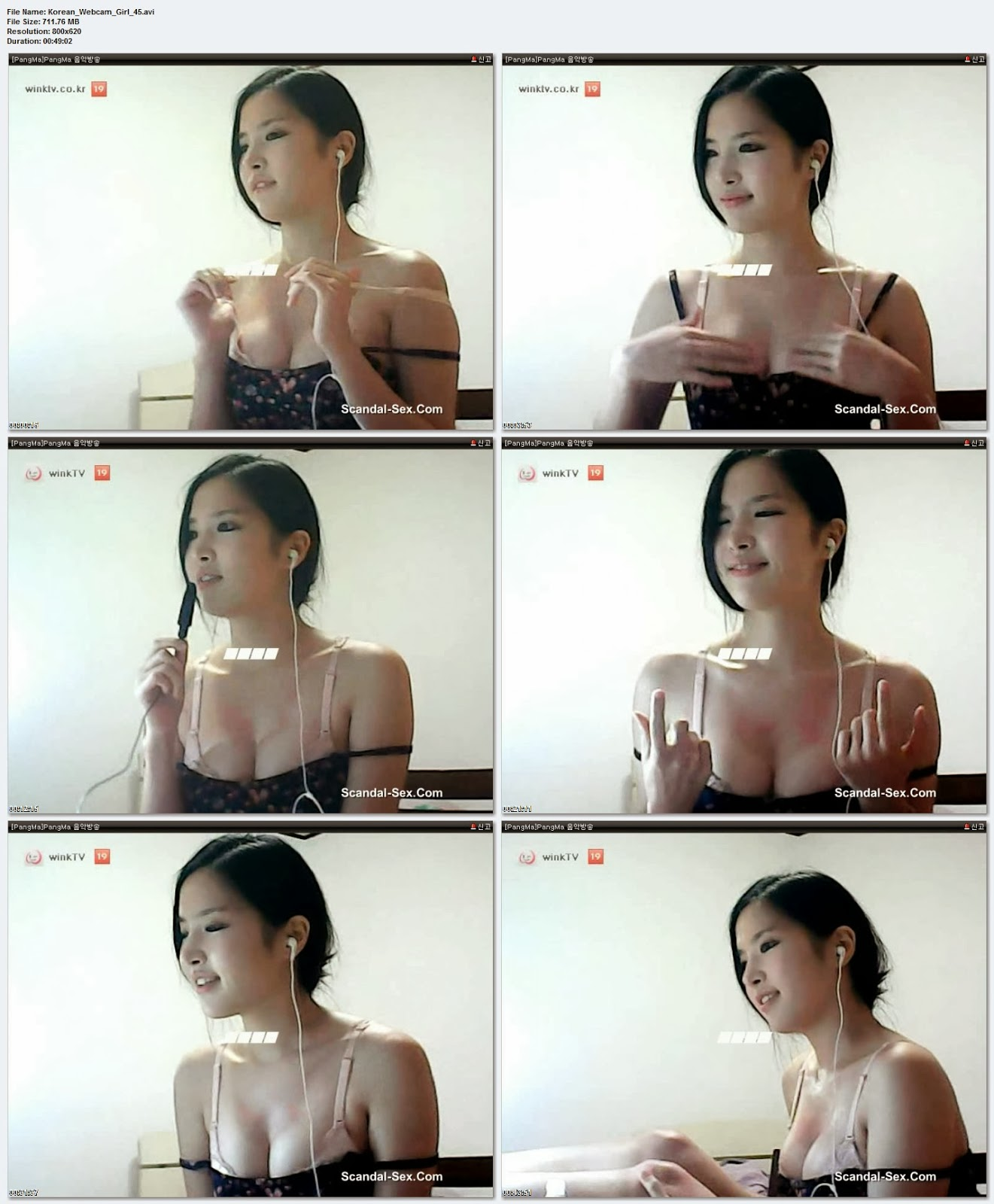 Teen Korean Webcam-I love boobs