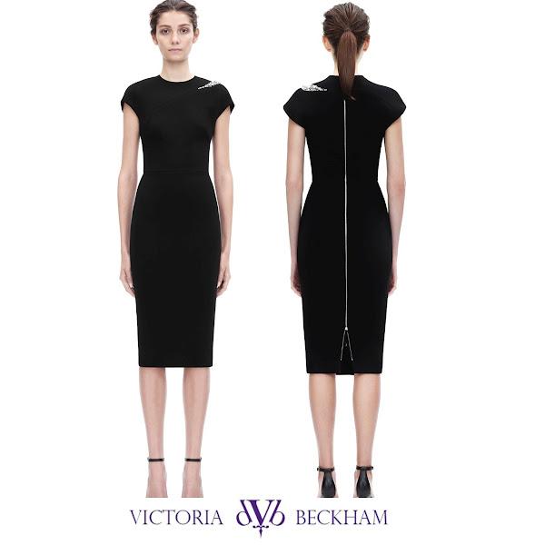 L k bennett black dress victorian