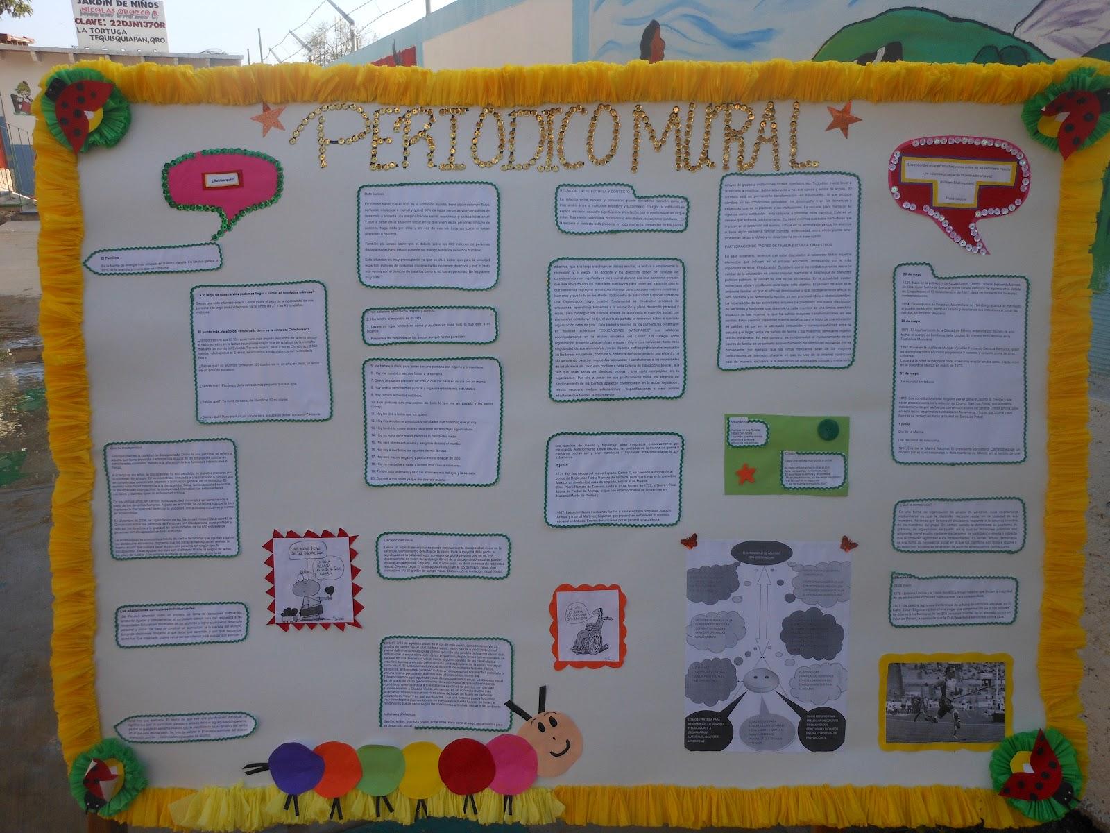 Observaci n del proceso escolar junio 2012 for Elementos del periodico mural