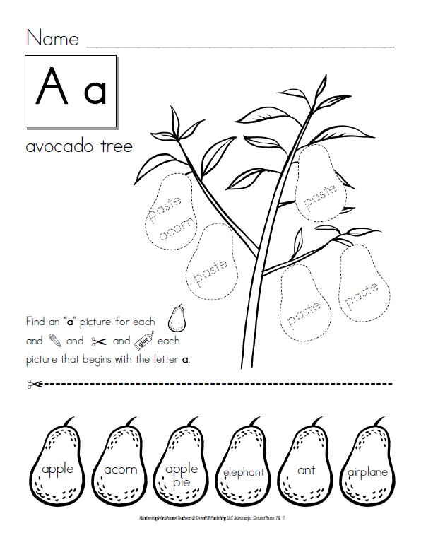 Printables Preschool Cut And Paste Worksheets free printable kindergarten cut and paste worksheets color for preschool worksheets