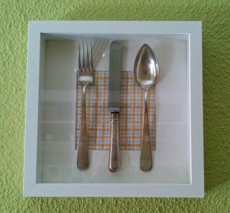 T con lim n y canela cuadro cubiertos antiguos diogeneras for Utensilios de cocina antiguos con nombres