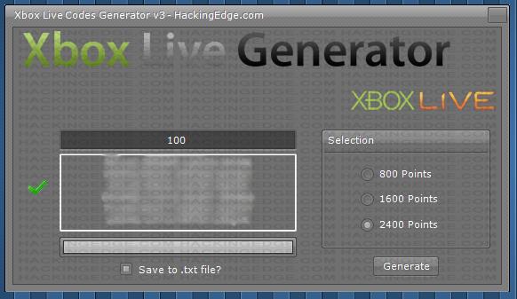 Free xbox live website code generator free
