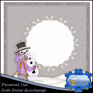 Cute Snow Quickpage Freebie