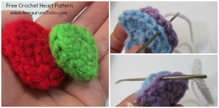 Easy Crochet Heart Pattern and Video Tutorial ~ Amigurumi ...