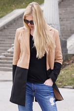 The black and camel coat