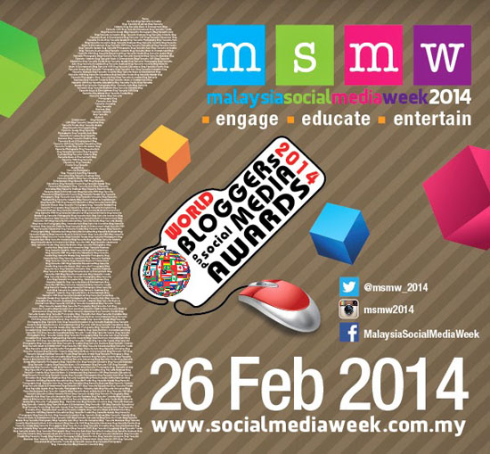 Senarai Pemenang World Bloggers and Social Media Awards #MSMW2014