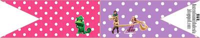 Banderines para sandwichs, para imprimir gratis de Enredados (Rapunzel).