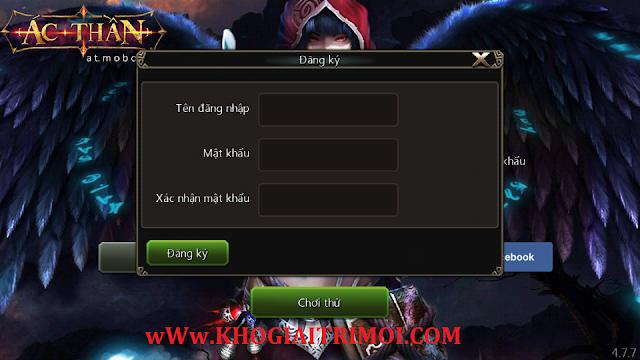 Hướng dẫn đăng ký tài khoản game Ác Thần