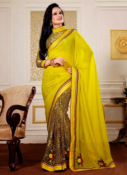latest party wear sarees 2014