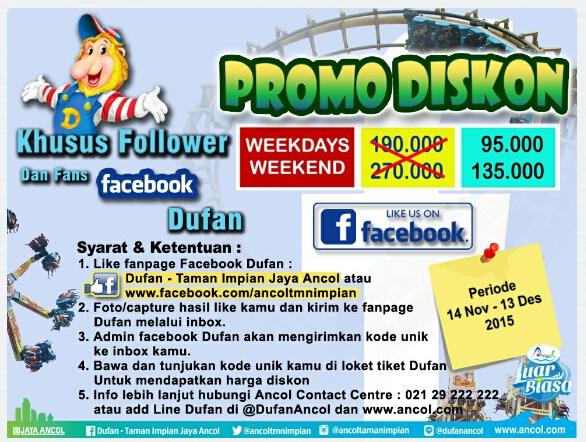 Promo Dufan Desember 2015 Edisi Diskon Khusus Fans Facebook