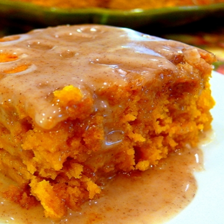 Two Ingredient Pumpkin Cake With Apple Cider Glaze Recipe
