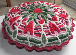 Crochet Overlay Mandala Pillow