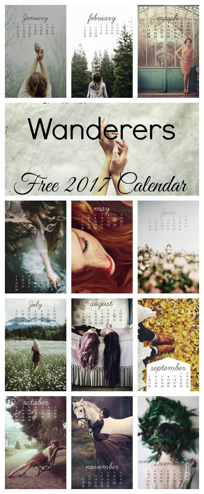 2017 Free Calendar by Pretty Wit
