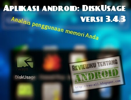 Ikon DISKUSAGE versi 3.4.3 - aplikasi android untuk menganalisis penggunaan memori internal dan eksternal (rev-all.blogspot.com)