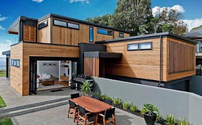 Membuat desain rumah kayu minimalis