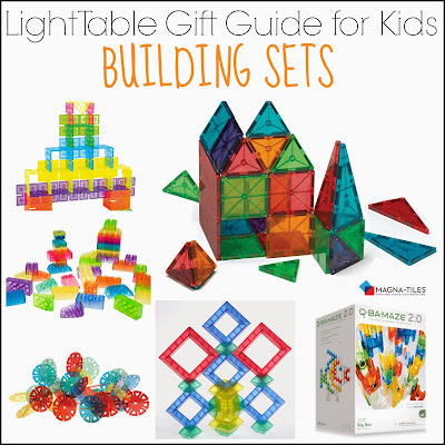 Light Table Gift Guide for Kids: Building Sets for Light Table Play from And Next Comes L