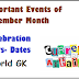 Important Days-Dates of November Month -Events -World General Knowledge 2014