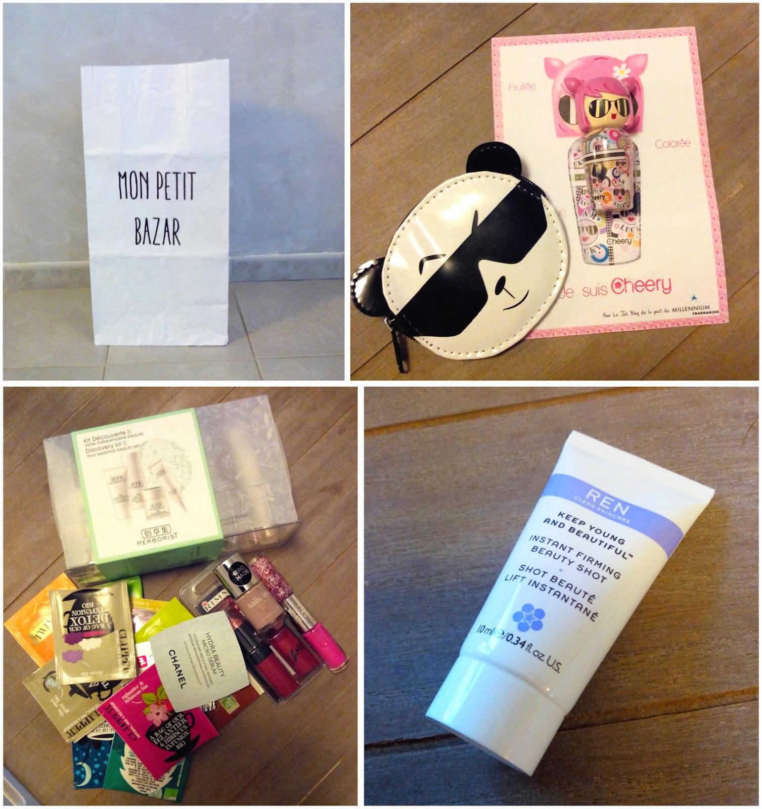 sac en papier, kokeshi, herborist, rimmel, nails inc, ren, bullelodie