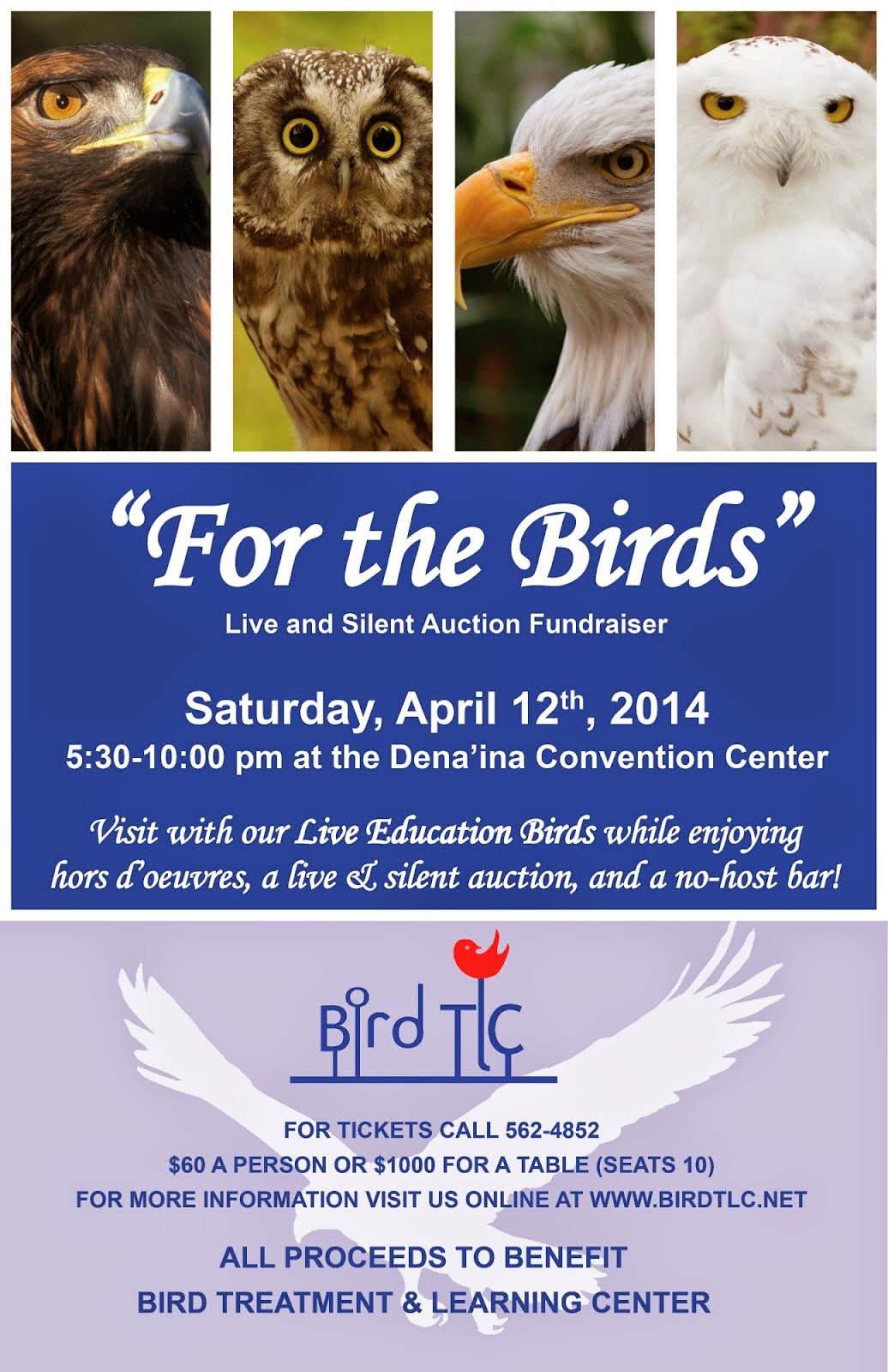 "Bird TLC's 2014 ""For The Birds"" Auction Fundraiser"